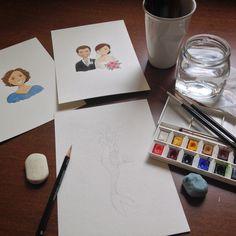 Retratos em aquarela #watercolorportraits atelierjoliz.com.br