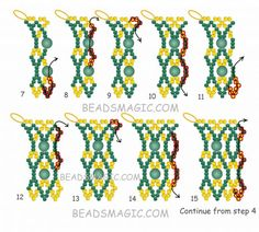 Free pattern for necklace Rimi