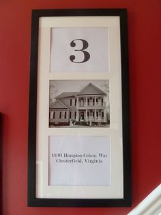 I love this idea.  This family is on their fifth home.  So, they have 5 of these hanging in their stairwell.