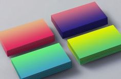 gradient business cards