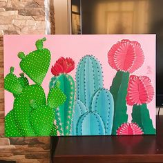 New Fashion Drawing Ideas Sketches Watercolors 41 Ideas - Art - Cactus Cactus Painting, Cactus Art, Diy Painting, Painting & Drawing, Succulents Painting, Gouache Painting, Cute Canvas Paintings, Mini Canvas Art, Art Sketches