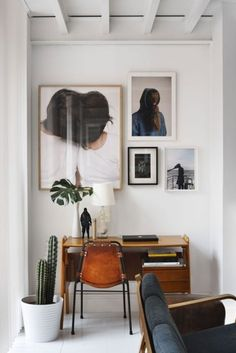home office, vintage furniture, frame gallery, for more ideas and inspirartions: http://www.bocadolobo.com/en/inspiration-and-ideas/