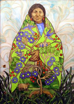 Mosaic by Angela Babby (Lakota) ~ Earth Mother ~ pls enlarge to see beautiful details Native American Wisdom, Native American Beauty, Native American Artists, American Indian Art, Native American Indians, American Spirit, Totems, Mosaic Art, Mosaic Glass