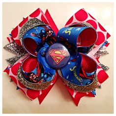 Superman hair now by JaynisBowBoutique on Etsy