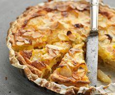Recette de Cyril Lignac : Tarte aux poires, raisins et miel