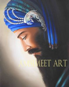 Oil painting of Guru Gobind Singh Kalgi Side Pose. Only 10 limited edition prints available. Guru Nanak Ji, Shri Guru Granth Sahib, Sikh Quotes, Guru Gobind Singh, Pantheism, Mahakal Shiva, Lds Art, Religious Art, Indian Art
