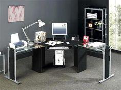 Modern Black Computer Desk Ideas