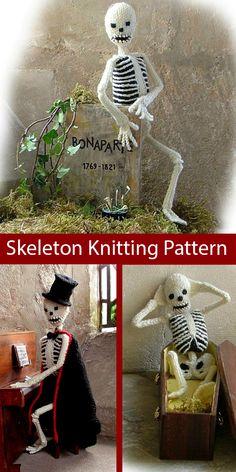 Halloween Knitting Patterns - In the Loop Knitting Crochet Pour Halloween, Halloween Toys, Vintage Halloween, Halloween Costumes, Halloween Knitting Patterns Free, Halloween Patterns, Knitted Dolls, Crochet Toys, Crochet Birds