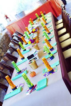 Fun idea for children at wedding. Maybe have a basket full of flash lights on a table by the guest book.