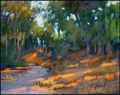 Dappled Light by Terri Ford Pastel Landscape, Landscape Artwork, Contemporary Landscape, Abstract Landscape, Pastel Paintings, Pastel Art, Acrylic Paintings, River Painting, Dappled Light