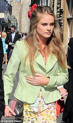 Cressida Bonas at a wedding on June 8