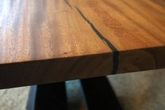 Monkey Pod Slab Table Top with art metal base Counter Top Sink Bathroom, Slab Table, Metal Fabrication, Houzz, Butcher Block Cutting Board, Metal Working, Craftsman, Countertops, Monkey