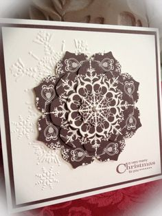 SU, Floral Frames, Candlelight Christmas, Northern Flurry EF, More Merry Messages, Chocolate Chip by pat-75