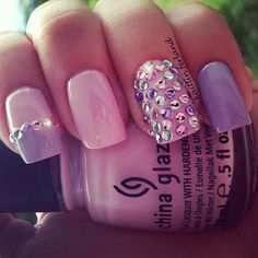 pink and lilac nails