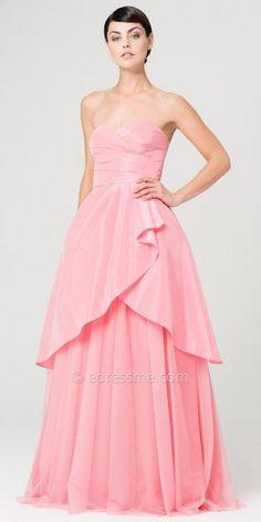 Serena Tulip Skirt Evening Dresses by Aidan Mattox-image