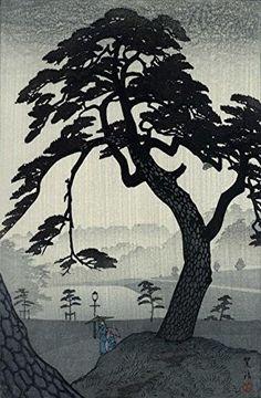 "Japanese Art Print ""Kinokunizaka in the Rainy Season"" by Kasamatsu Shiro. Shin Hanga and Art Reproductions http://www.amazon.com/dp/B012IC1KEC/ref=cm_sw_r_pi_dp_l8.swb0HV0G8H"