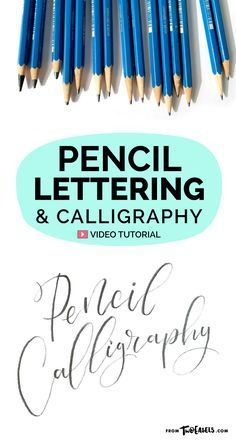 Pencil Lettering and Calligraphy — TwoEasels Yes, it's possible to do modern calligraphy with just a pencil, and it still looks amazing. Try it, or just use your pencil to sketch out your ideas. Etiher way, pencils and lettering go hand in hand. Pencil Calligraphy, Calligraphy Video, Calligraphy For Beginners, Calligraphy Handwriting, Learn Calligraphy, Calligraphy Letters, Penmanship, Modern Calligraphy Tutorial, Calligraphy Doodles