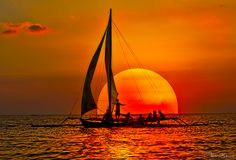 Dream sail sunset