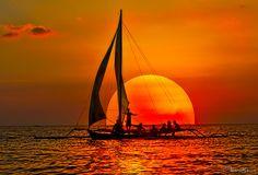 sailing past the sun