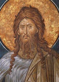 John the Forerunner Byzantine Icons, Byzantine Art, Jean Baptiste, John The Baptist, Art Icon, Thesis, Fresco, Saints, Artwork