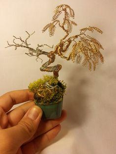 Bonsai wire tree sculpture hand made artcraft