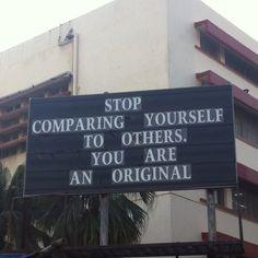 Be original, no one likes a duplicate