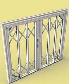 SILIGHT 2 A -inferriata di sicurezza in acciaio inox rivestia in alluminio, adatta sia per finestre che per porte