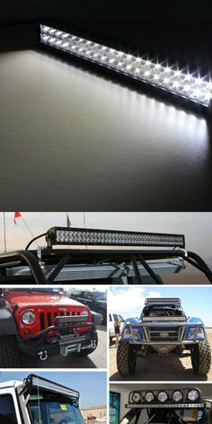 Xuanba4 18led4 4 120w light bar work light for jeep car truck boat 4x4 4wd suv atv spot flood mozeypictures Images