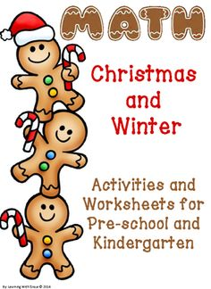 Christmas and Winter Math Activites and Worksheets from Learning With Grace on TeachersNotebook.com -  (75 pages)  - This Christmas and winter themed packet has over 70 pages of math activities and worksheets for pre-k and kindergarten students.