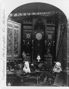 World's Fair of 1876 : Egyptian display, photograph from Library of Congress, Washington. Philadelphia History, Historic Philadelphia, Ancient Greek Words, Exhibition Building, American Independence, Architectural Antiques, World's Fair, Library Of Congress, French Artists