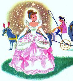 thoroughly-modern-minnie: Walt Disney's Cinderella, A Little Golden Book 1950 by estelle & ivy