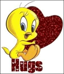 Tweety Bird Quotes | Myspace Graphics > Hugs > Tweety Hugs Graphic