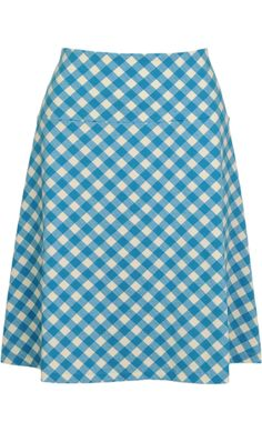 Vintage inspired summer skirt in blue - King Louie SS2014