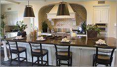 white cabinets with granite countertops   nara brown/caledonia granite with white cabinets - Kitchens Forum ...