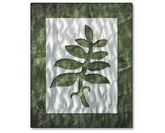 Simplistic Foliage Metal Wall Hanging