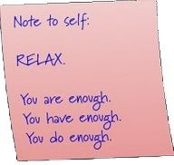 A reminder to myself when I'm fighting with my anxiety!