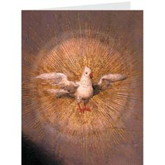 The Met Store -  Van Cleve: The Annunciation Dove Holiday Cards / Greeting: Peace on Earth.