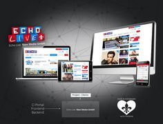 Echo Live Newsportal - Entwicklung Corporate Design & Online Newsportal für ECHO LIVE