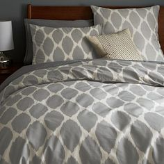 Ikat Ogee Duvet Cover + Shams from West Elm. Saved to new room. Shop more products from West Elm on Wanelo. Home, Home Bedroom, Bedroom Makeover, West Elm Duvet, Master Bedroom Interior, Modern Master Bedroom, Modern Furniture Sale, Modern Duvet Covers, Home Furnishings
