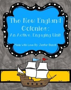 "Are you looking for an exciting New England Colonies unit? You've found it! It's fun to teach about the New England colonies when you have active, engaging materials! Contents: New England Colonies: Mixed Map ActivityWho were the Puritans?      * Reading passages      * ""Puritan Life in New England"" book for students to create-You     may staple the pages together to create a little book OR use     these small pages as frames in an interactive notebookWho was Anne Hutchinson?"