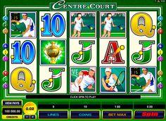 Centre Court ilmainen online kolikkopeli verkossa on Microgaming peli jossa on 5 kiekkoa, 9 voittolinjaa ja bonus peli. Peli käyttää tennis teema ja symbolit ovat Centre Court Trophy, Match Point, Serve, Return Serve, rysty, kämmenlyönti ja kortit ässästä 10.