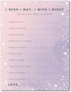 Baby Shower Games Starlight Starbright - Front : Hydrangea