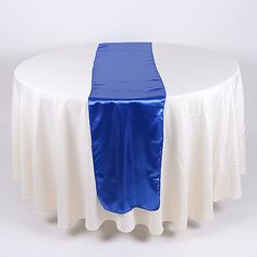 #Wedding Supplies - Royal Blue - #Satin Table Runners