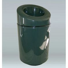 "Allied Molded Products Ashton 30-Gal Trash Industrial Trash Bin with Lid Size: 42"" H x 24"" W x 24"" D, Color: Navy Blue"