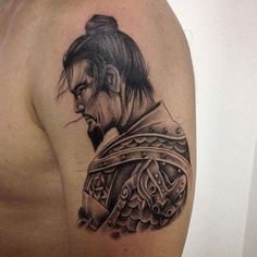 "60 Samurai Tattoos ❖❖❖ ❖❖❖ The word samurai originated from the verb knows it , which corresponds ""the one who serves the Lord"". Are noble warriors of feudal Japan who defended . Japan Tattoo Design, Japanese Tattoo Designs, Samurai Tattoo, Tattoo Trend, Real Tattoo, Demon Tattoo, Fantasy Mermaids, Asian Tattoos, Vintage Mermaid"