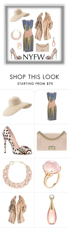 """""""What to Pack: NYFW"""" by clarita1954 ❤ liked on Polyvore featuring Eric Javits, GEDEBE, Chanel, DIANA BROUSSARD, Goshwara, Lilli Ann, Christian Dior and NYFW"""