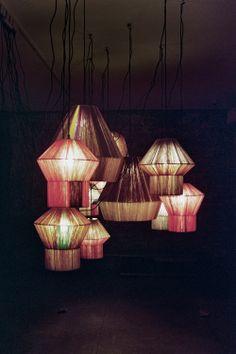 Ana Kraš' Bonbon Lamps via Shiva Rose  ¿Quieres que te dotemos de superpoderes para decorar tu hogar con nuestra poderosa app? Visitanos,decora y conoce el precio al instante. www.youcandeco.com