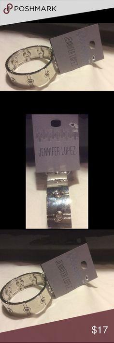 Jennifer Lopez Silver Stretch Bracelets Silver Stretch With Gems Jennifer Lopez Jewelry Bracelets