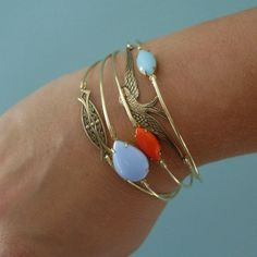 Silver Swallow Bracelet Silver Jewelry Nature by FrostedWillow