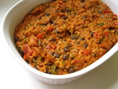 """""""Awesome"""" Vegan Taco Casserole (if you use corn tortilla chips) Veggie Recipes, Mexican Food Recipes, Whole Food Recipes, Vegetarian Recipes, Cooking Recipes, Healthy Recipes, Veggie Food, Clean Recipes, Cooking Ideas"""